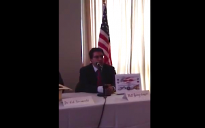 Matt Rooney participating in a July 4th Obamacare Repeal Panel.