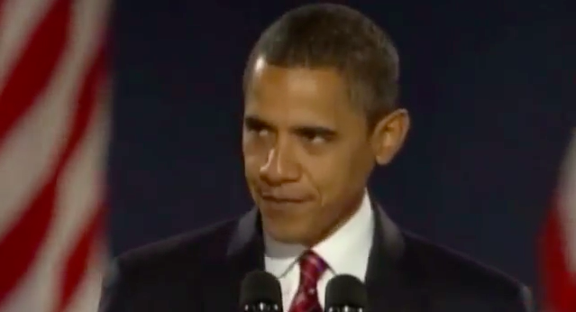 Obama leering at the audience