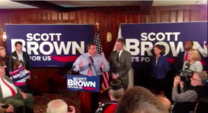 Christie stumps for Scott Brown ahead of Election 2012