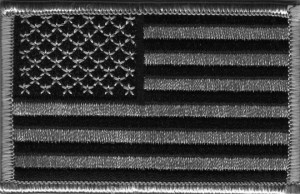 American Flag Patch BW