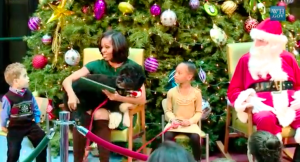 Michelle Obama at Christmas
