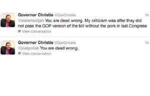 Christie Twitter War