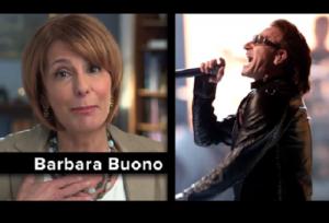 Bono (right), not Buono (left).