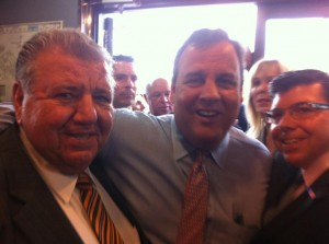 The Bucco men campaigning in 2013 with Chris Christie.