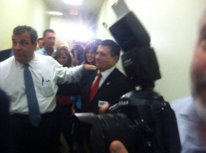 Sam Fiocchi (left) campaign with Gov. Christie in Cumberland County