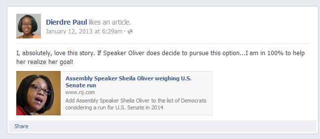 Endorsing Oliver - Paul FB