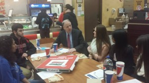 Rich Pezzullo talks to students