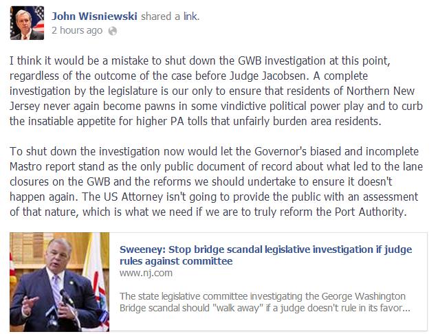 wisniewski bridgegate post