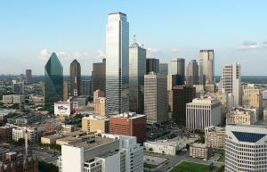 The Dallas skyline