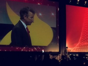 Rand Paul addresses an AFP conference in Dallas, Texas in August 2014.