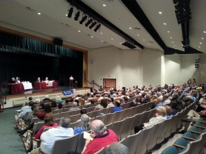 200+ attendees watch the NJ-03 candidates debate.