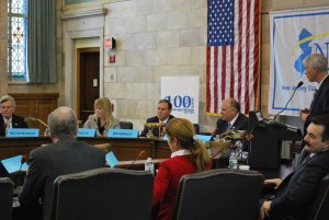 Bramnick (center back) participating in a panel discussion with other legislators from both parties.