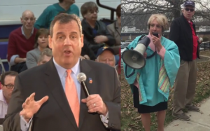 CHRISTIE TOWN HALL NJEA PROTEST