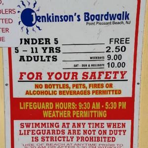 beach tag fee sign