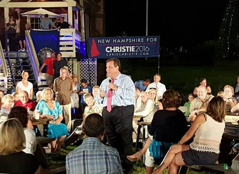 via the Christie campaign Facebook page