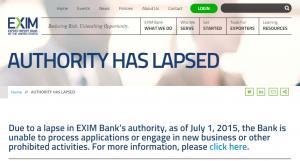 A screenshot from the EX-IM website.