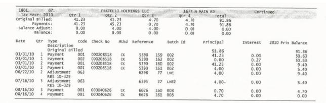 fiocchi tax record