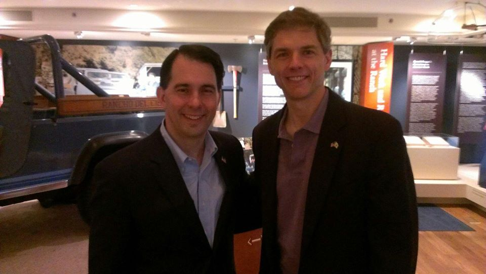 Webber (right) with Governor Scott Walker (left) at the Reagan Ranch in California.