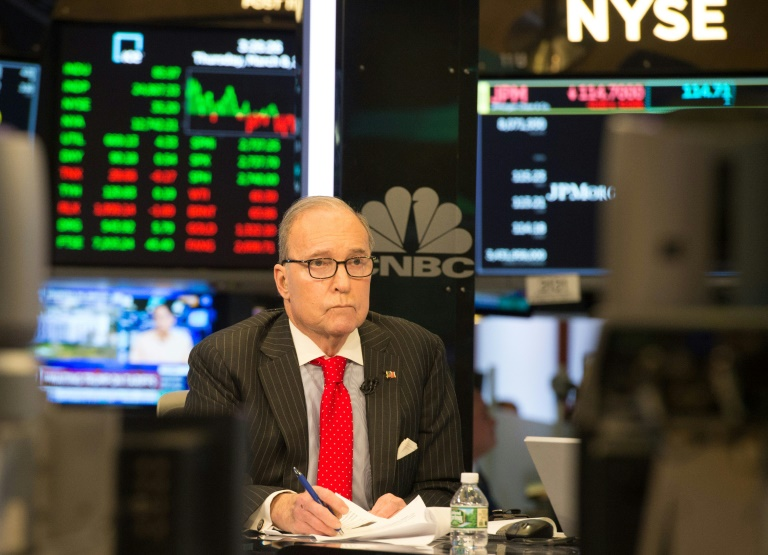 Larry Kudlow is known as a supporter of free markets and has criticized Donald Trump's decision to impose tariffs on imported steel and aluminum AFP/File / Bryan R. Smith