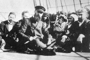 Herzl on a Boat
