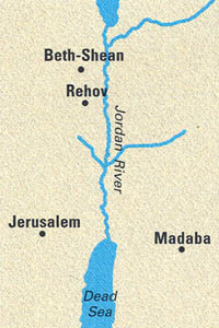 Map showing Dead Sea and vicinity