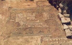 Sepphoris mosaic discovered in 1987