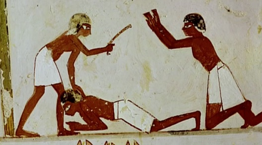Egyptian Beating Hebrew Slave