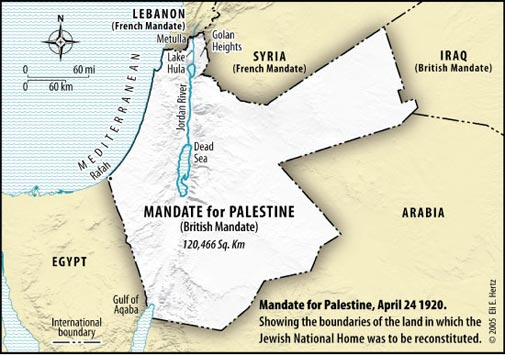 July 12th 1920 The Palestine Mandate: Sir Arthur Balfour : Center for Online Judaic Studies