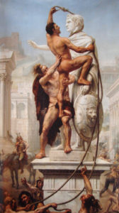 The Sack of Rome by the Visigoths on 24 August 410 by J-N Sylvestre (1890)