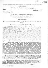 May 17, 1939 The White Paper