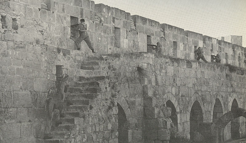 Arab Legion Soldiers Firing from Old City Walls