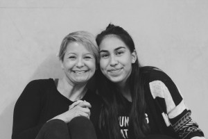 Edith with her mentor, Irene.