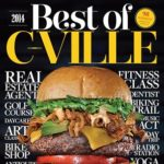 "Cover of ""Best of Cville"" magazine with stacked burger"