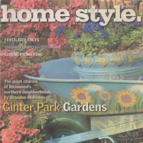 "Cover of ""Home Style"" Magazine of potted plants"