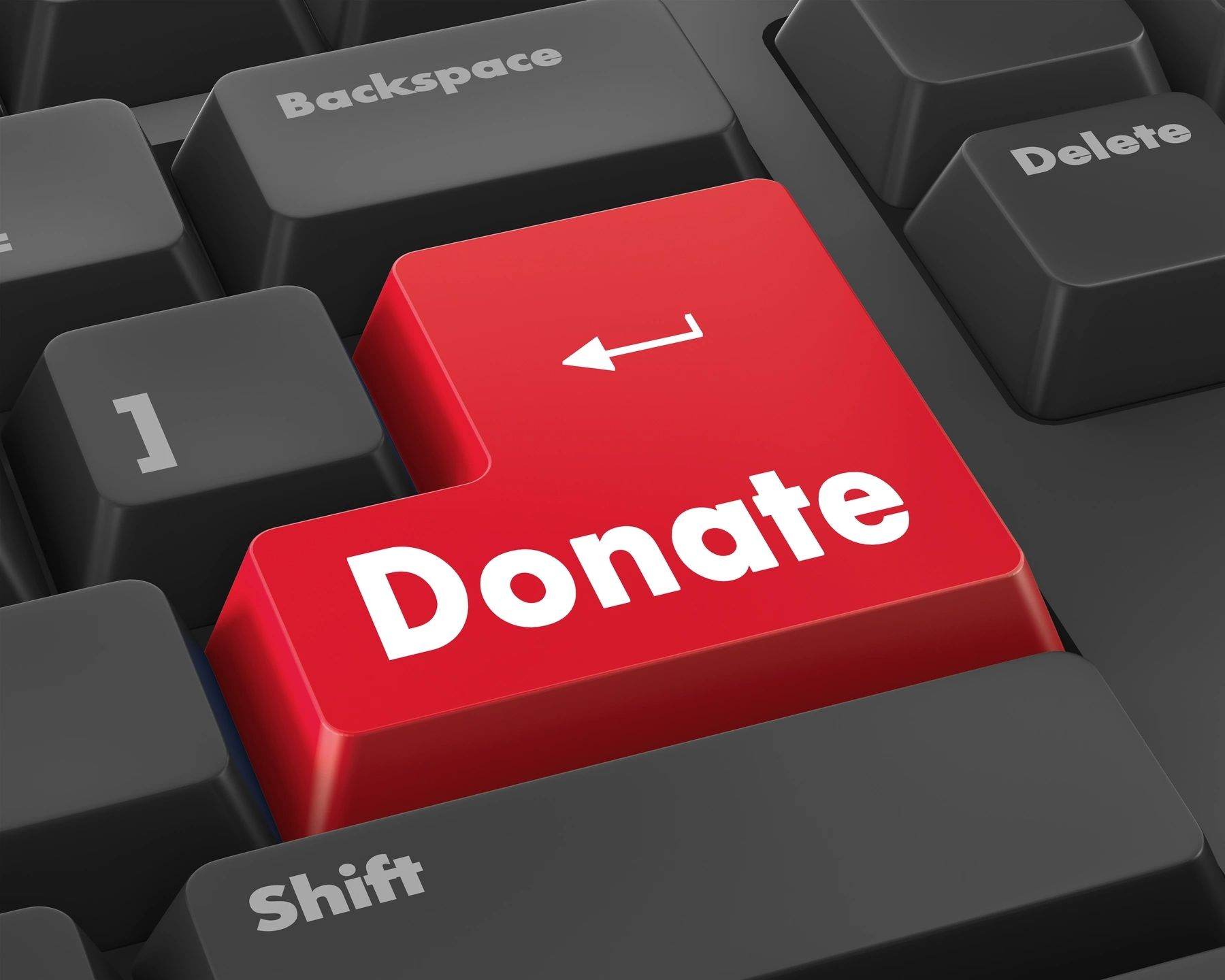 """keyboard with """"donate"""" button"""