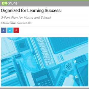 Richmond family magazine online article imagery of school supplies