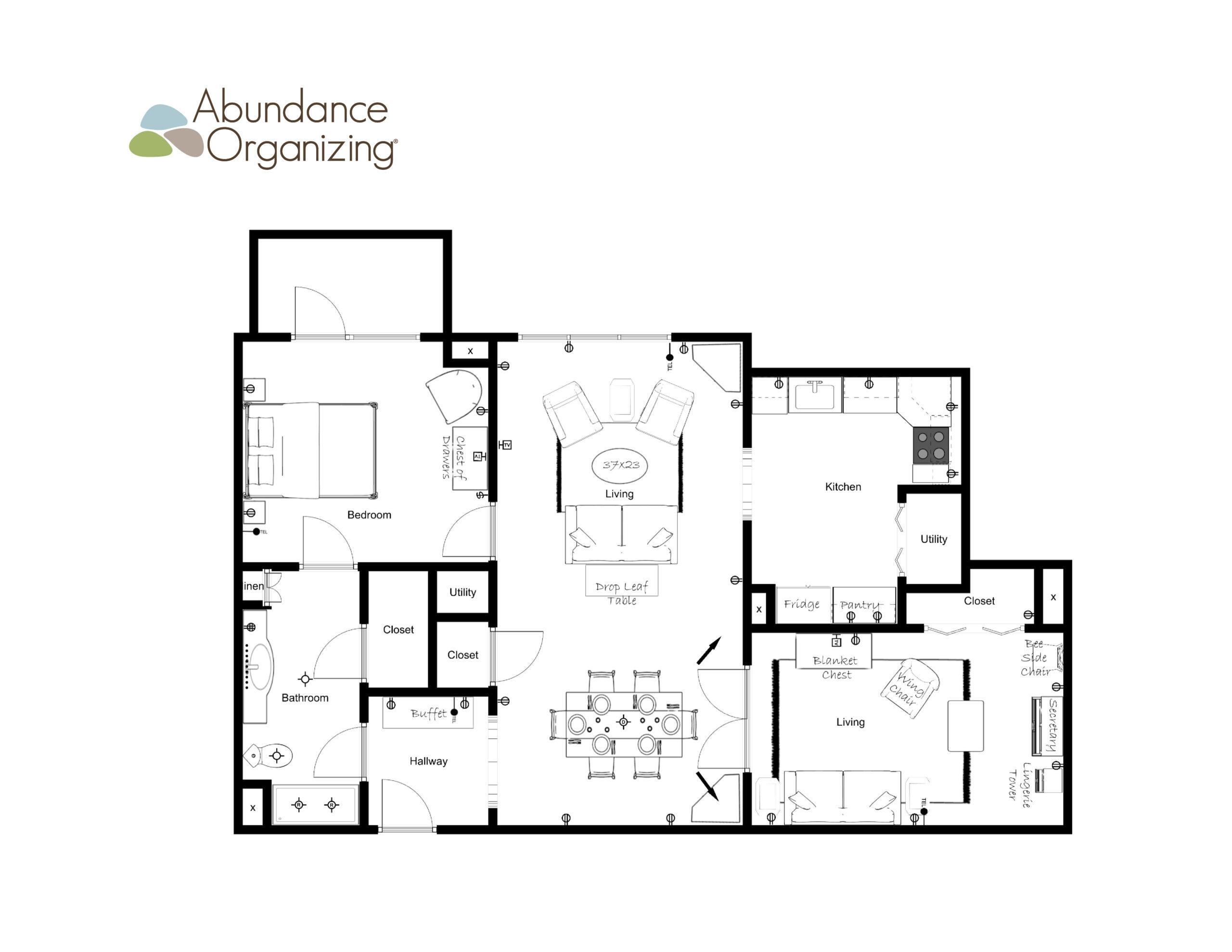 Sample of a floor plan by Abundance Organizing