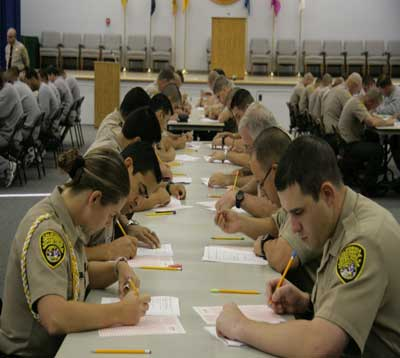 officer recruitment written test