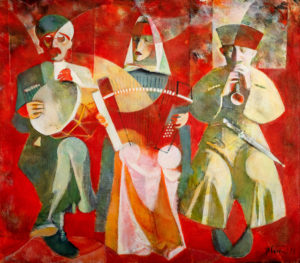 Concert Acrylic on Canvas - Original, 105.0 x 120.0 cm