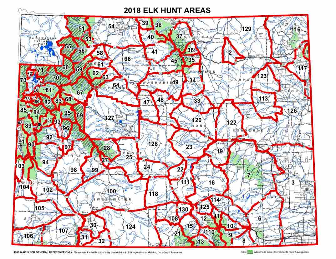 Elk Hunt Area Map