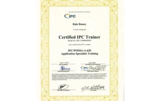 Certified IPC Trainer Certificate