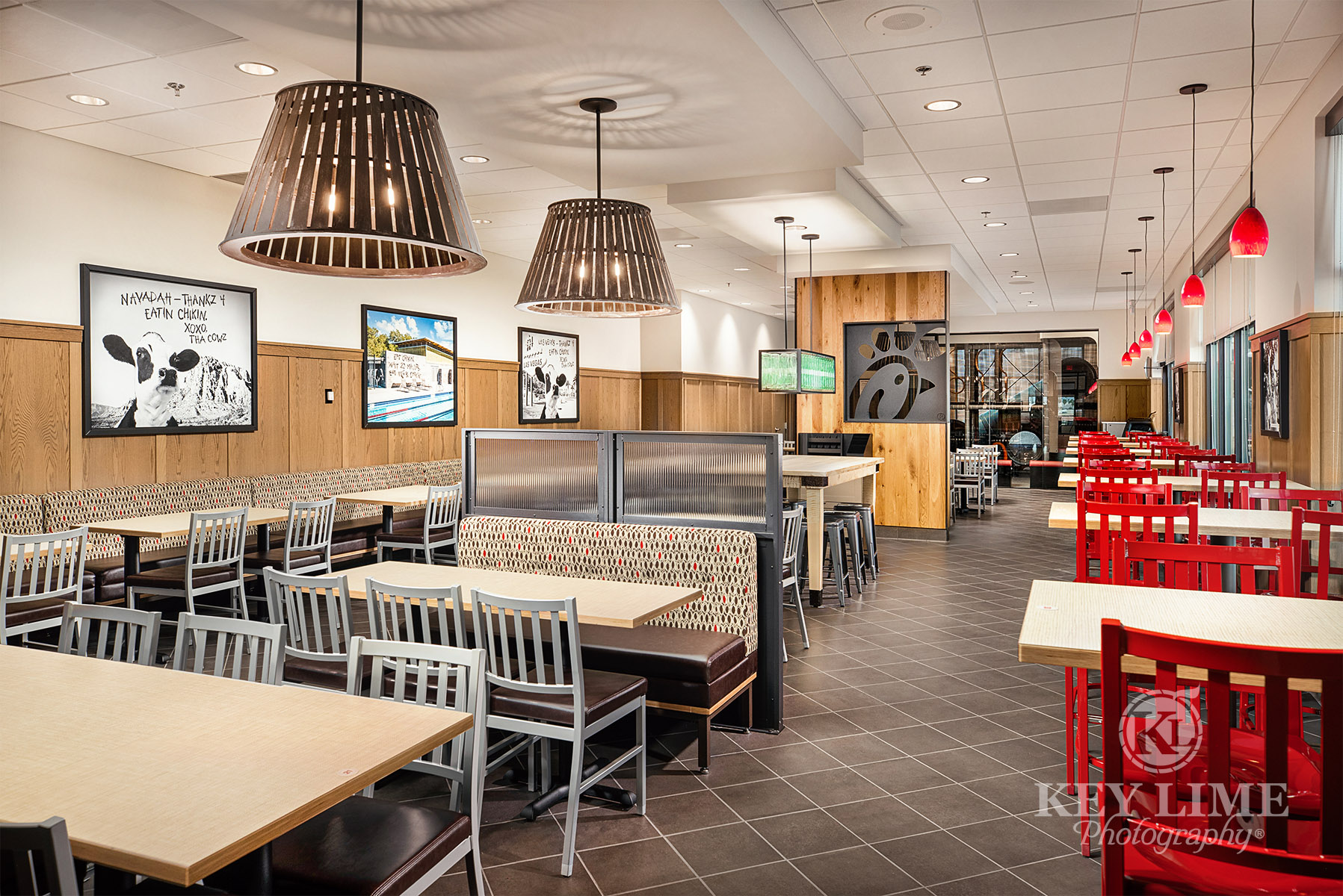 Architecture photography, las vegas, restaurant construction, dining room, interior
