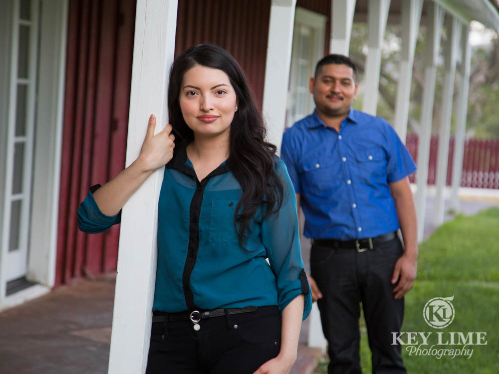 engagement photo of red barn at spring mountain ranch near las vegas