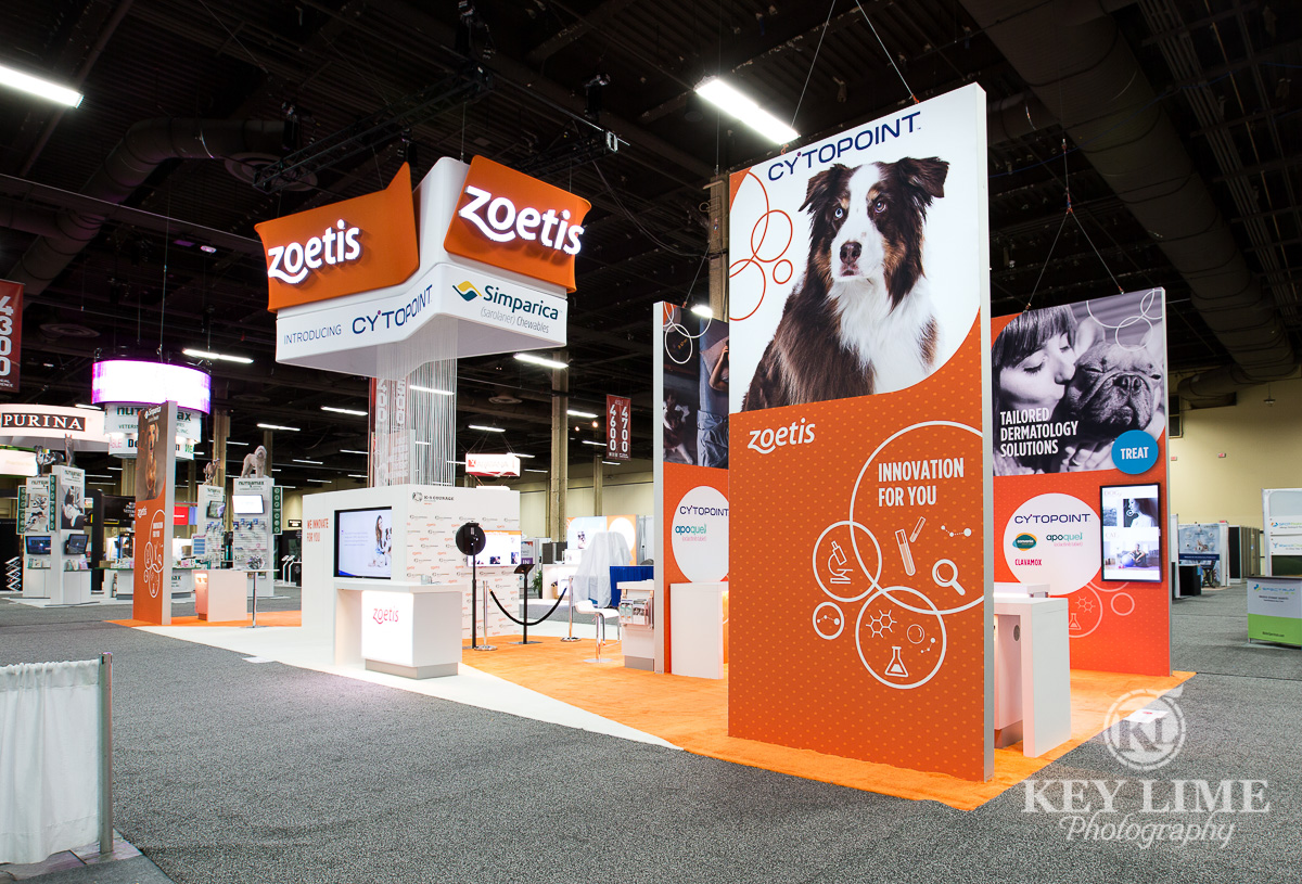 Western Vet Conference photo of the Zoetis booth. Key Lime Photography