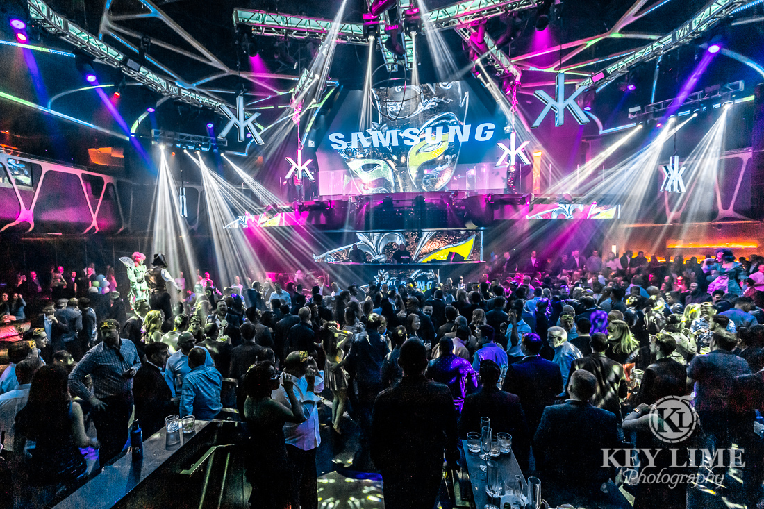 Samsung corporate after party special event. DSE trade show photographer image.