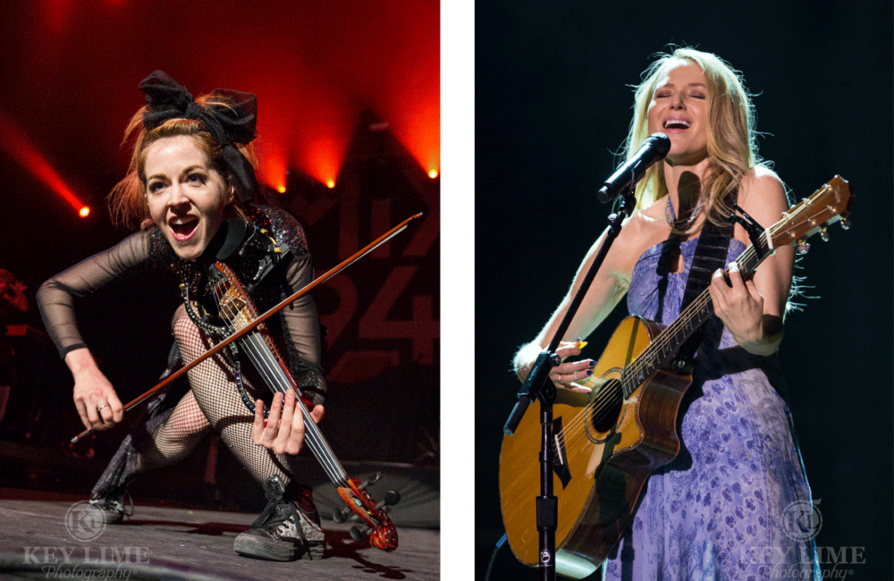 Concert photos of Lindsey Stirling and Jewel