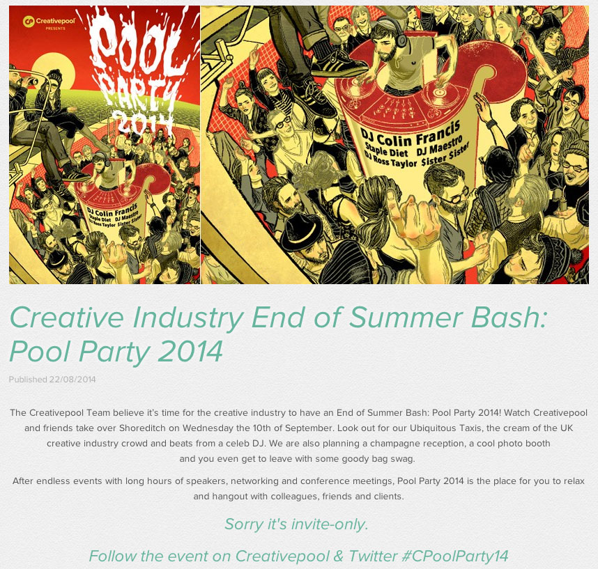 creativepool party site