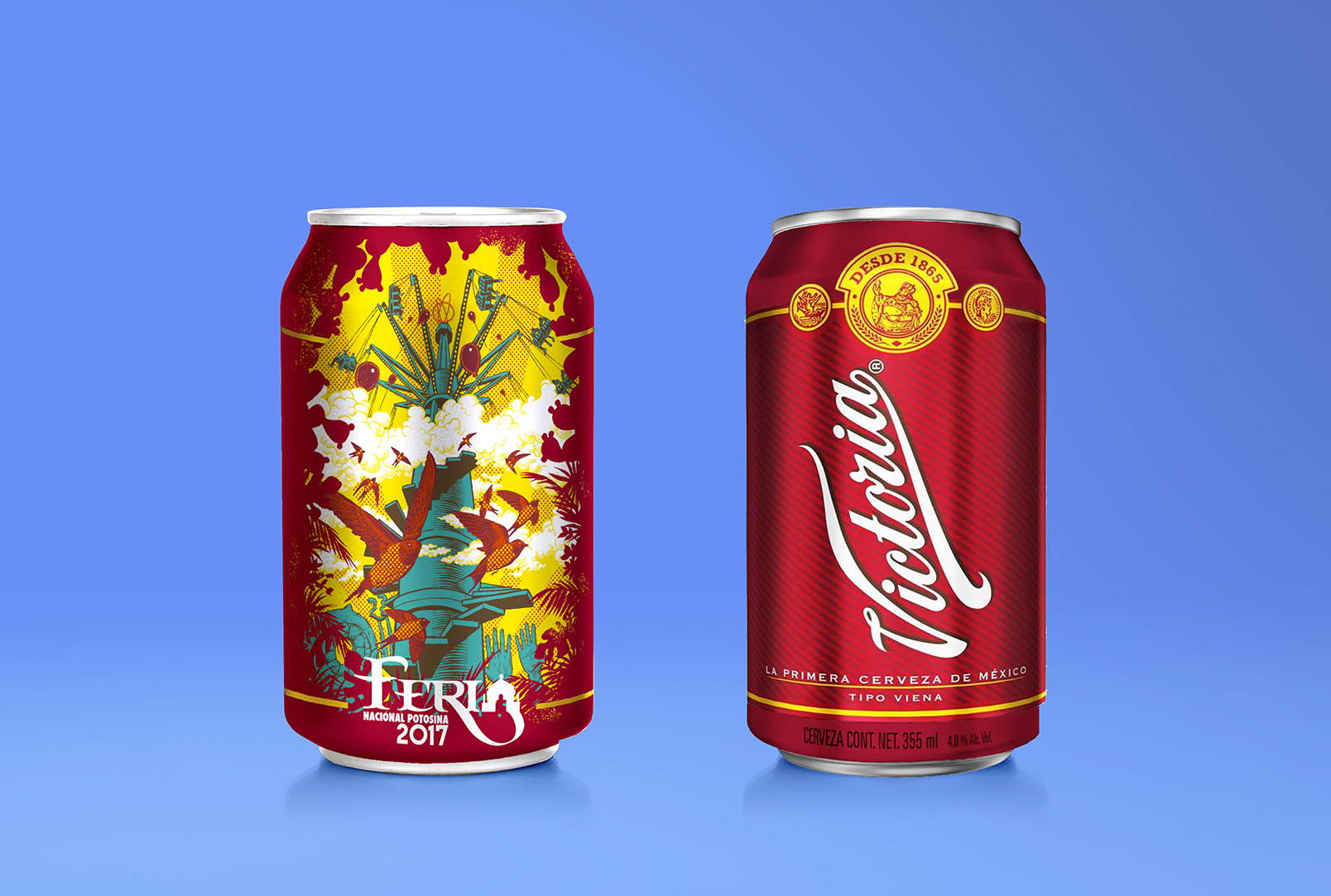 14738936 - aluminum cans isolated on white