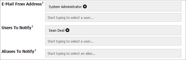 Type-Ahead User Fields Screenshot
