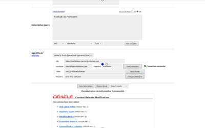 Push Content from Oracle WebCenter Content to Oracle Content and Experience Cloud with Fishbowl's Subscription Notifier